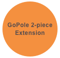 GoPole 2-piece Extension